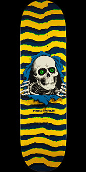 Powell Peralta Ripper Skateboard Deck Yellow - 8.5 x 32.08