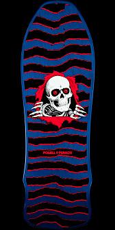 Powell Peralta Geegah Ripper Skateboard Deck Blue - 9.75 x 30