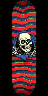 Powell Peralta Ripper Skateboard Deck Red - 8.25 x 31.95