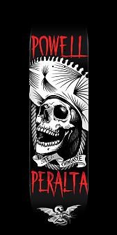 Powell Peralta Te Chingaste Skateboard Deck White - 8.5 x 32.08
