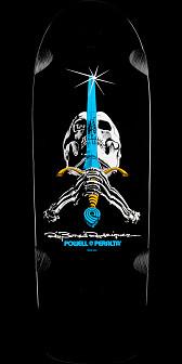 Powell Peralta Ray Rodriguez OG Skull and Sword Skateboard Deck - 10 x 30