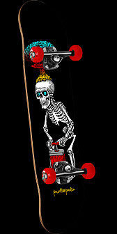Powell Peralta Explode Black Complete Skateboard Assembly - 8 x 32.125