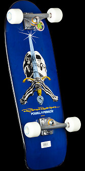 Powell Peralta Rodriguez Skull and Sword Complete Skateboard Blue - 10x 30