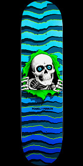 Powell Peralta New School Ripper Skateboard Deck Blue - 8.25 x 32.5