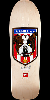 Powell Peralta Hill Bulldog Reissue Skateboard Deck Natural - 10 x 31.5