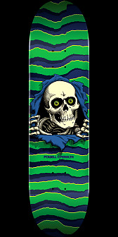 Powell Peralta Ripper Skateboard Deck Green - 8.75 x 32.95