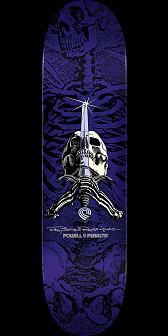 Powell Peralta Rodriguez Skull and Sword Skateboard Deck Purple - 8.5 x 32.08