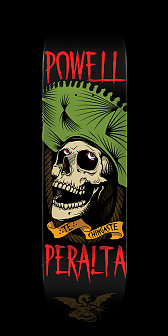 Powell Peralta Te Chingaste Skateboard Deck Green - 8.25 x 31.95