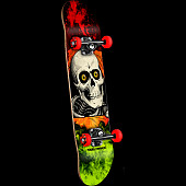 Powell Peralta Ripper Storm Complete Skateboard Red/Lime - 7.5 x 28.65