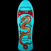 Powell Peralta Caballero Chinese Dragon Skateboard Deck Turquoise - 10 x 30