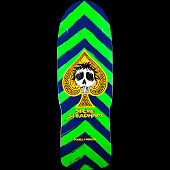 Powell Peralta Steadham Skull and Spade Skateboard Deck Green/Navy - 10 x 30.125