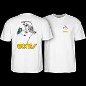 Powell Peralta Skate Skeleton T-shirt - White
