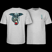 Powell Peralta T-shirt Dragon Skull Grey