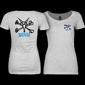 Powell Peralta Woman's T-Shirt Vato Rat Grey