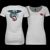Powell Peralta Woman's T-Shirt Dragon Skull Grey