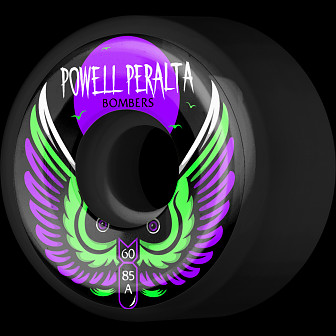 Powell Peralta Bomber Wheel 3 Black 60mm 85a 4pk
