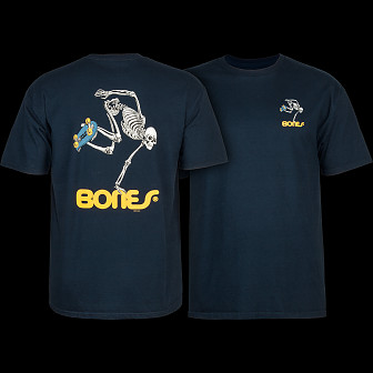 Powell Peralta Skate Skeleton T-shirt - Navy