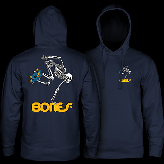Powell Peralta Skateboarding Skeleton Hooded Sweatshirt Navy