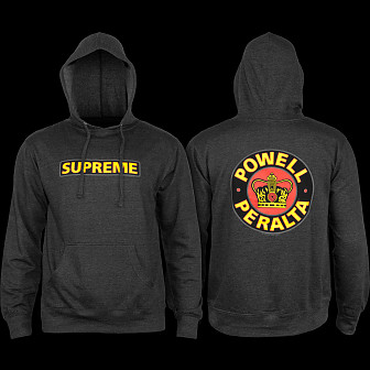 Powell Peralta Supreme Hooded Sweathsirt Charcoal
