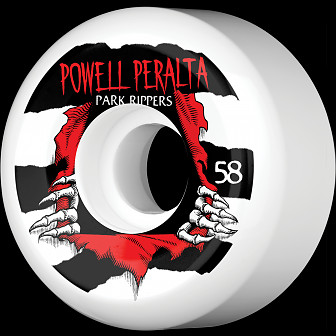 Powell Peralta Park Ripper 58mm PF Wheels 4pk