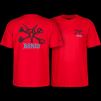 Powell Peralta T-shirt Rat Bones Red