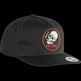 Powell Peralta Smoking Skull Snapback Cap Black