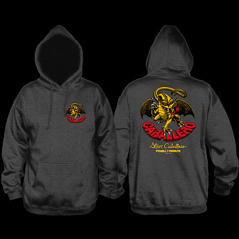 Powell Peralta Steve Caballero Dragon Hooded Sweathshirt Charcoal