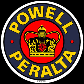 Powell Peralta Supreme 2 inch Sticker single