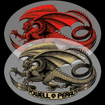 Powell Peralta Oval Dragon Sticker (Single)