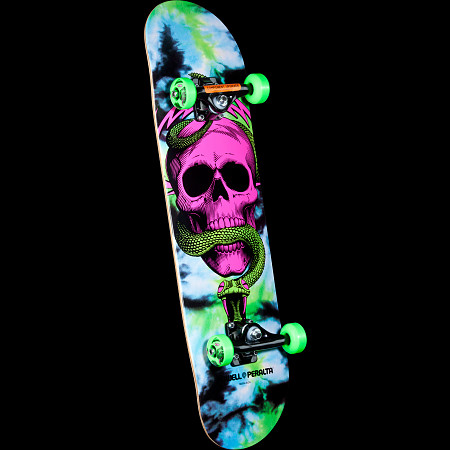 Powell Peralta Skull and Snake Complete Skateboard Tie Dye - 8 x 32.125