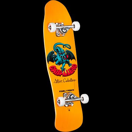 Powell Peralta Mini Caballero Dragon II 4 Complete Skateboard Yellow - 8 x 29.5