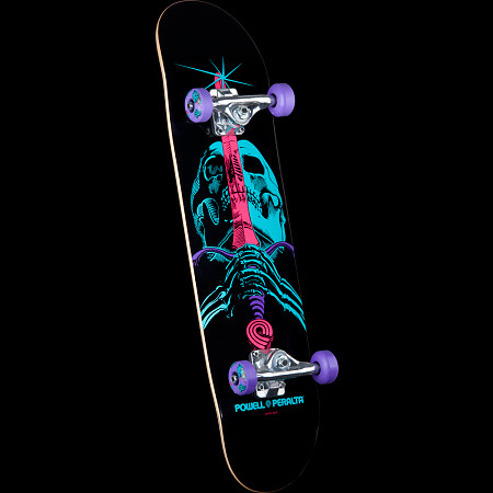 Powell Peralta Skull and Sword Complete Skateboard Purple - 7.88 x 31.67
