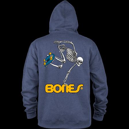 Powell Peralta Hooded Zip Sweatshirt Skateboard Skeleton Navy
