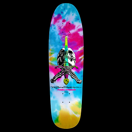 Powell Peralta Slappy Tie Dye Skull & Sword Skateboard Deck - 8.5 x 30.5