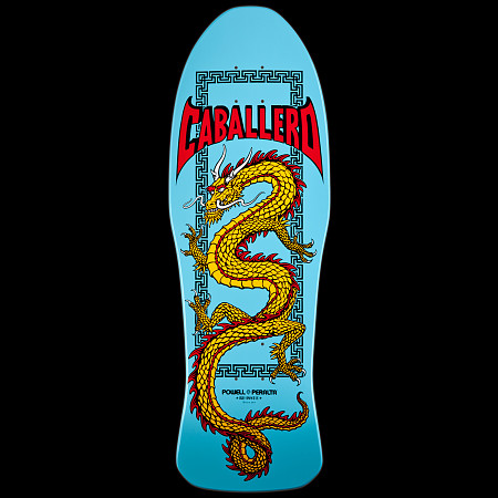 Powell Peralta Caballero Chinese Dragon Skateboard Deck Light Blue - 10 x 30