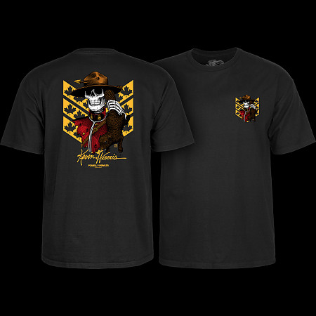 Powell Peralta Kevin Harris Mountie Black T-shirt