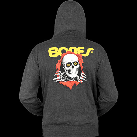 Powell Peralta Ripper Hooded Zip - Charcoal