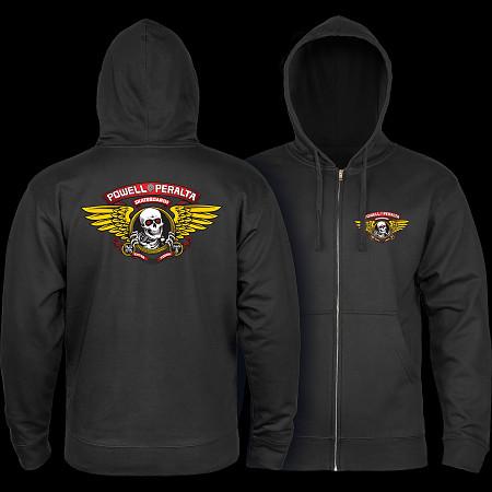 Powell Peralta Winged Ripper Hooded Zip - Black