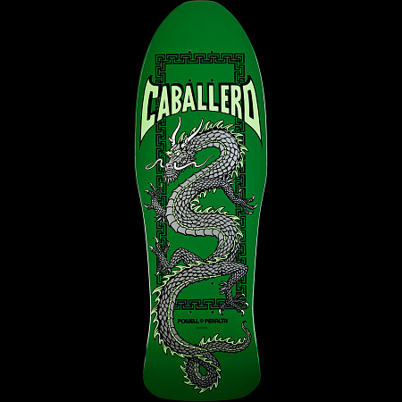 Powell Peralta Steve Caballero Chinese Dragon Skateboard Deck Green - 10 x 30