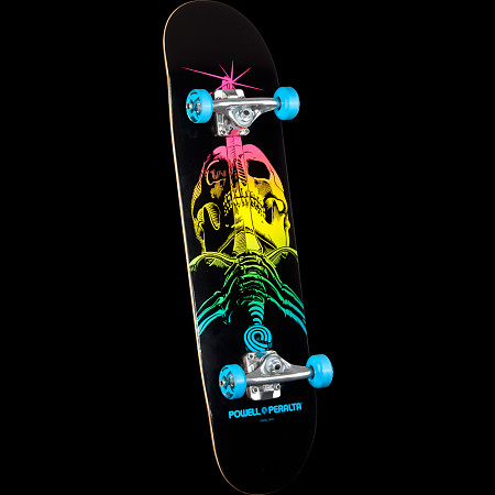 Powell Peralta Skull and Sword Complete Skateboard Blue - 7.88 x 31.67