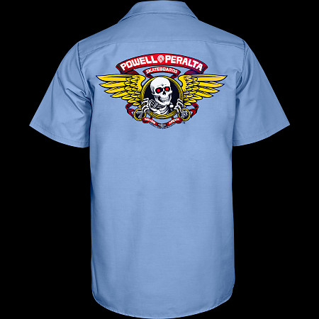 Powell Peralta Winged Ripper Work Shirt - Blue